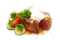 Fresh pepper steak isolated. Stock Images