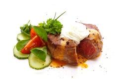 Fresh pepper steak isolated. Stock Images