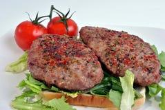 Fresh peppered lamb grill steak Royalty Free Stock Photo