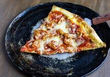 Fresh pepperoni and sausage pizza Stock Photo