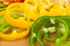 Fresh peppers cuts Royalty Free Stock Images