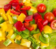 Fresh peppers cuts Stock Images