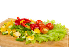 Fresh peppers cuts Royalty Free Stock Photos