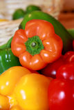 Fresh peppers in kitchen Stock Images