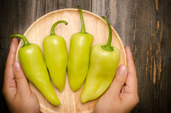 Fresh peppers Stock Images