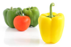 Fresh peppers and tomato Stock Photos