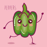 Fresh peppers vegetable character. Vector illustration design Royalty Free Stock Photo