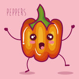 Fresh peppers vegetable character. Vector illustration design Stock Photos