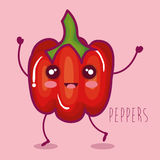 Fresh peppers vegetable character. Vector illustration design Royalty Free Stock Image