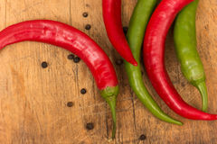 Fresh peppers Stock Photos