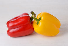 Fresh peppers on wooden Stock Photos