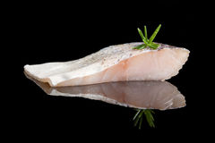 Fresh perch fish fillet. Royalty Free Stock Image