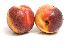 Fresh perfect looking nectarines Royalty Free Stock Photos