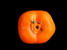 A fresh persimmon Royalty Free Stock Images