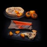 Fresh Persimmon Cake Stock Image