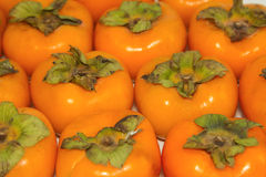 Fresh persimmon fruit food background Stock Image