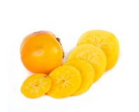 Fresh persimmon fruits Stock Photos