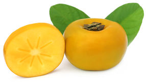 Fresh persimmon Royalty Free Stock Photography