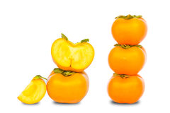 Fresh persimmon slice isolated Royalty Free Stock Image
