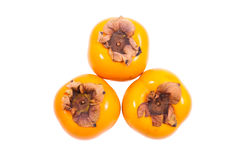 Fresh persimmons fruits Royalty Free Stock Image
