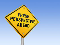 Fresh perspective ahead road sign Royalty Free Stock Photos