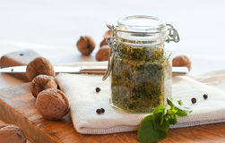 Fresh pesto Stock Images