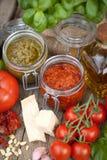 Fresh pesto Stock Photos