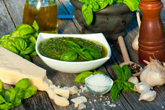 Fresh pesto Royalty Free Stock Photo