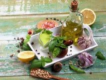 Fresh Pesto Sauce stock images