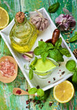 Fresh Pesto Sauce Stock Photos