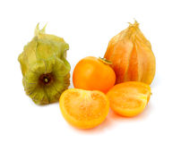 Fresh physalis cape gooseberry  on white Royalty Free Stock Photography