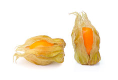 Fresh physalis   on white background Royalty Free Stock Photos