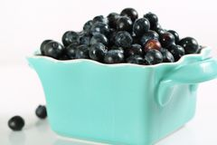 Fresh picked blueberries Royalty Free Stock Images