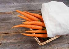 Fresh picked carrots Royalty Free Stock Photos