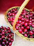 Fresh picked cherries Royalty Free Stock Photos