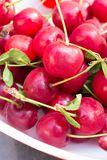Fresh picked cherries Stock Photos