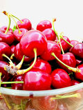 Fresh picked cherries Royalty Free Stock Photo