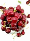 Fresh picked cherries Stock Photos