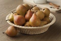 Fresh picked Gieser Wildeman pears Royalty Free Stock Photos
