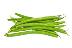Fresh picked green beans isolated Royalty Free Stock Photos