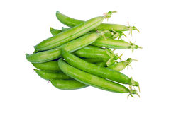 Fresh picked green pea pods isolated Royalty Free Stock Photo