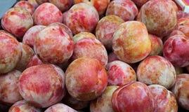 Fresh Picked Nectarines at the Farmers' Market Stock Photos