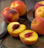 Fresh picked peaches Royalty Free Stock Photo