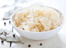 Fresh pickled cabbage (german sauerkraut) Royalty Free Stock Image