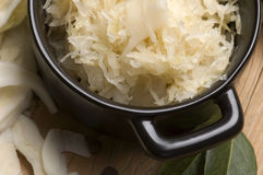 Fresh pickled cabbage - polish sauerkraut Royalty Free Stock Photography