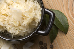 Fresh pickled cabbage - polish sauerkraut Stock Photography