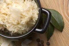 Fresh pickled cabbage - polish sauerkraut stock photography