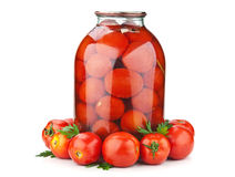 Fresh and pickled tomatoes Royalty Free Stock Photo