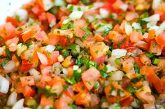 Fresh pico de gallo stock photos