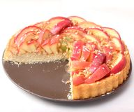 Fresh pie with apples Stock Image